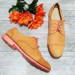 Cole Haan Camello Gramercy Oxford in tan & pink